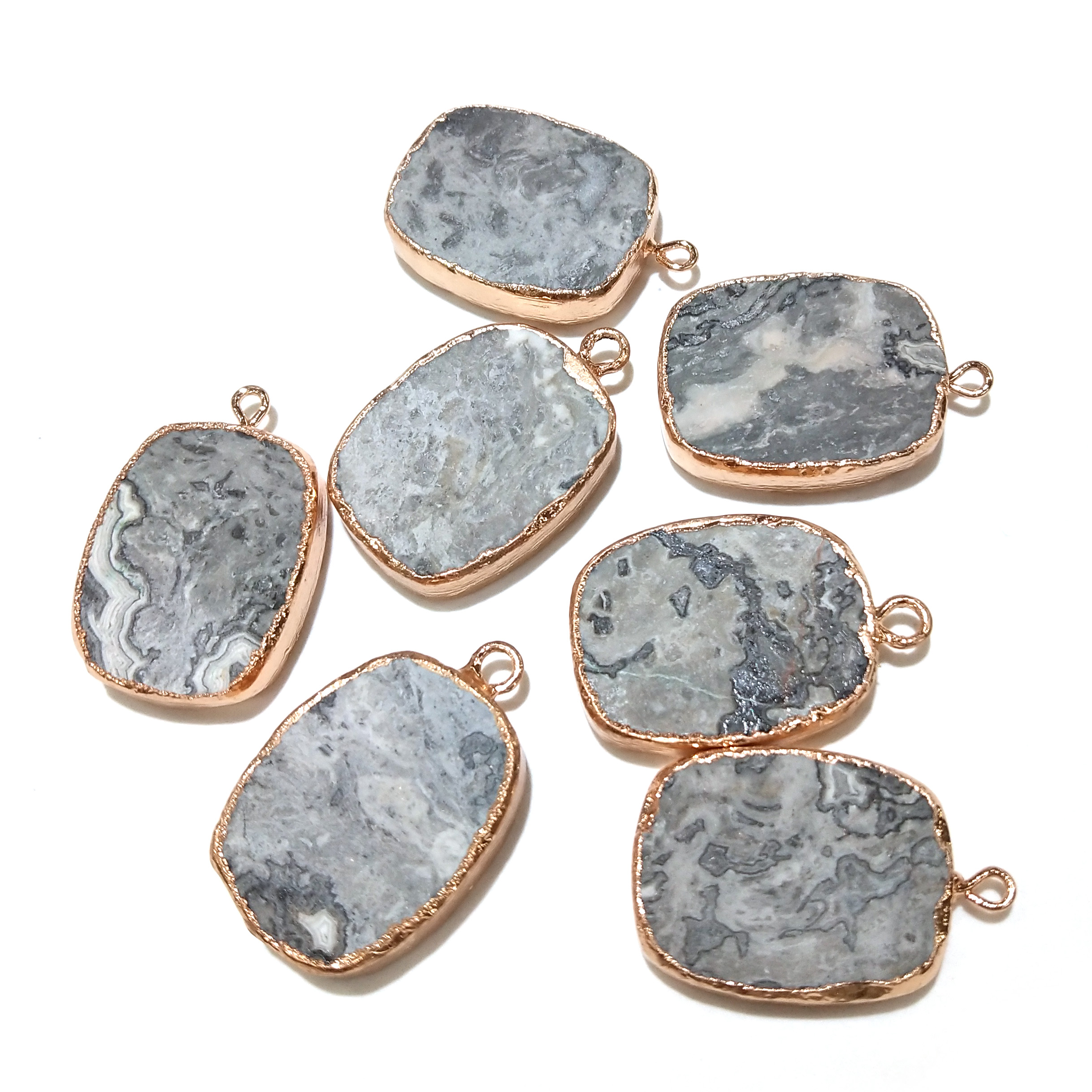 Wholesale 1pcs Natural Stone Pendants Charms Crystal for Jewelry Making Pillar Chakra & Necklaces
