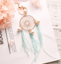 Nordic Style Wind Chimes Dream Catcher Eeychain Dreamcatcher Round Room Bedroom Wall Hanging Decoration Car