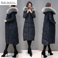 Winter Female Jacket + Large Fox Fur Hooded Clothes 2020 Thick Warm 90% Duck Down Coat Women's Down Jacket Hiver 801113(China)