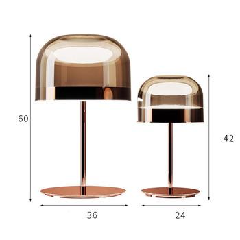 Postmodernistyczne szklana lampa stołowa kreatywny różowe złoto luksusowy stół lampa Art nocna sypialnia salon włoski projektant lampy biurko tanie i dobre opinie veldwind NONE CN (pochodzenie) foyer Różowy Wiszący table lamps Klin Szkło iron Wtyczka UE 90-260 v Pokrętło Żarówki LED