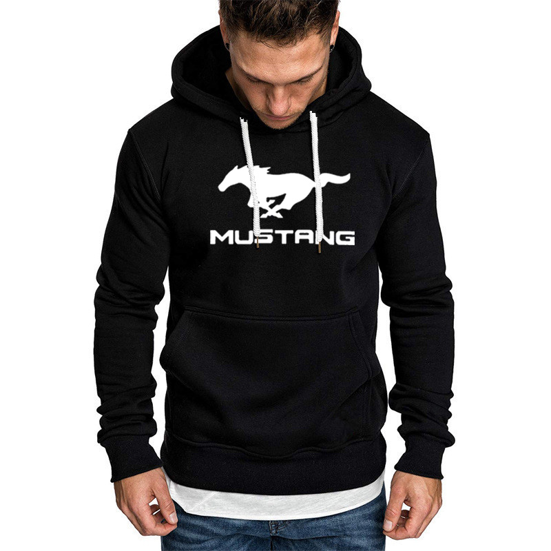 Hoodies Men Mustang Car Logo Print Sweatshirt Spring Autumn Men Hoodie Hip Hop Harajuku Fashion Casual Hoody Fleece Tracksui