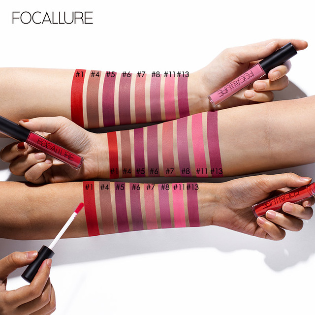 FOCALLURE Waterproof Liquid Lipstick Velvet Lip Tint Sexy Red Lip Makeup Keep 24 Hours Matte Lipstick 1