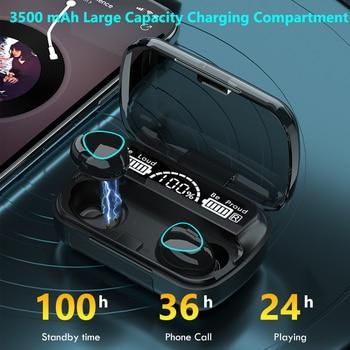 TWS Bluetooth 5.1 Earphones 3500mAh Charging Box Wireless Headphone 9D Stereo Sports Waterproof Earbuds Headsets With Microphone 3