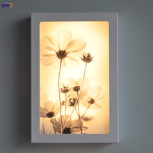 12W אמנויות פרחים LED מנורות קיר מודרני אקריליק פמוט גופי עבור מדרגות בר קפה Wandlamp פשוט קיר אורות מקורה תאורה