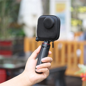 Image 5 - Portable Mini EVA Waterproof Storage Case for Gopro Max Camera Anti shake Protective Case Cage Half open Bag for Gopro Max