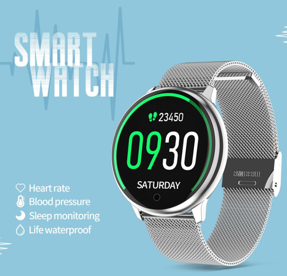 <font><b>R7</b></font> <font><b>Smart</b></font> <font><b>Watch</b></font> Men GPS Waterproof Weather Forecast Sleep Heart Rate Monitor Blood Pressure Answer Make Calls for iPhone Android image