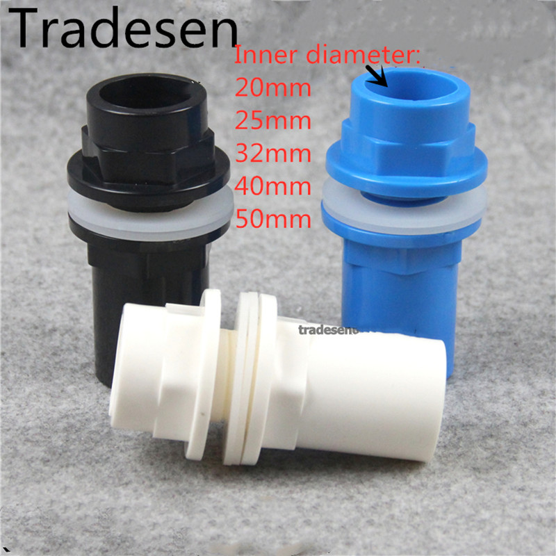 I.D25mm To50 PVC Pipe Connectors Thicken Fish Tank Pipe Drainage Connector Garden Drain Pipe Plumbing Water Supply Pipe Fittings