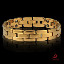 Fast-sell Amazon 18K Jinqiangmagnet Mens Handwear Explosive Health Bracelet Wholesale Commodities