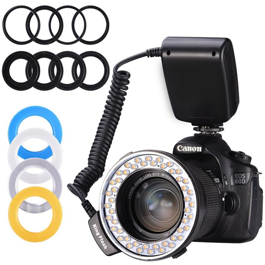 MAMEN Макро 48 светодиодный Кольцевая вспышка светильник для sony цифровой зеркальной камеры Canon Nikon Fujifilm Olympus Pentax DSLR Камера фото светильник скорость светильник комплект