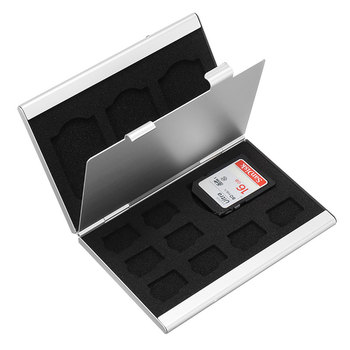 Mini Aluminum Alloy Micro TF SD Memory Card Storage Case Protector Holder Box for SD/TF Card Storage Accessories mini aluminum alloy micro tf sd memory card storage case protector holder box for sd tf card storage accessories