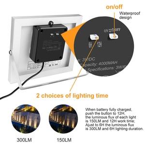 Image 4 - 3 في 1 في الهواء الطلق LED ضوء الشمس IP66 مقاوم للماء إضاءة ليد تعمل بالطاقة الشمسية مصباح مصباح إنارة غامرة خارجي لحديقة فناء المناظر الطبيعية الحديقة