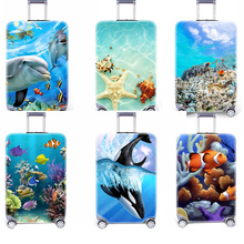 New Travel Ocean Suitcase Elastic Dust Cover Luggage Case For 18~30 Inch Password Box Dust Cover Trolley Cover Protective Cover rerekaxi travel elastic luggage cover suitcase protective shell trolley case dust cover 22 28 inch travel accessories