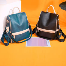 Maison Fabre Retro Wanita Ransel Kulit Kasual College School Backbag Mahasiswa Laptop Gadis Kembali Pack Perjalanan Ransel Dropship(China)