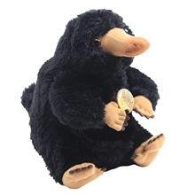 Jouets en Peluche de collection, 20cm, animaux fantastiques et où les trouver, Niffler, billets de canard noirs, poupée en Peluche, cadeau pour enfant
