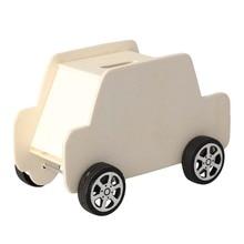 1 шт. DIY Неокрашенный креативный деревянный автомобиль в форме копилка для экономии денег модные игрушки