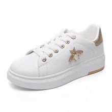 YeddaMavis Shoes Gold Women Sneakers New Rhinestone 3CM Platform Lace Up Womens Woman Trainers