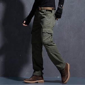 Image 2 - Mens Pants Thickening Trouser Velvet Winter Warm Jogger Male Military Style Army Casual Fleece Lined Pants Working Coverall Work