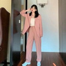 Women's Two Pieces Blazer Office Lady Suit Set Work Blazer