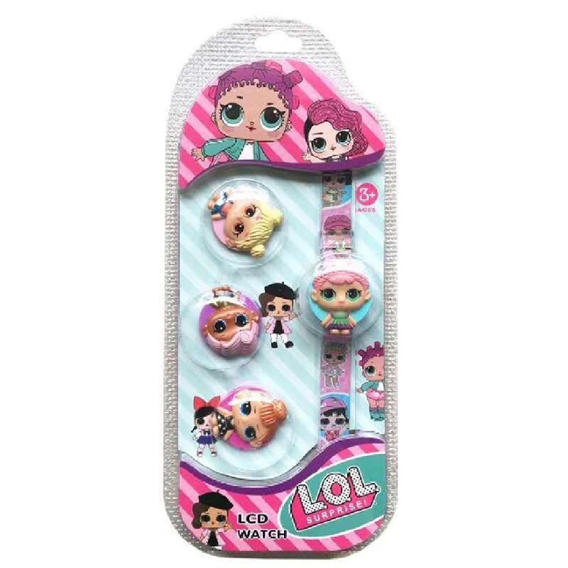 LOL Surprise Dolls Original Lols Dolls Cute Flip Cover LCD Watch Surprise Dolls Action Figures New Cartoon Watch Lol Dolls Toys