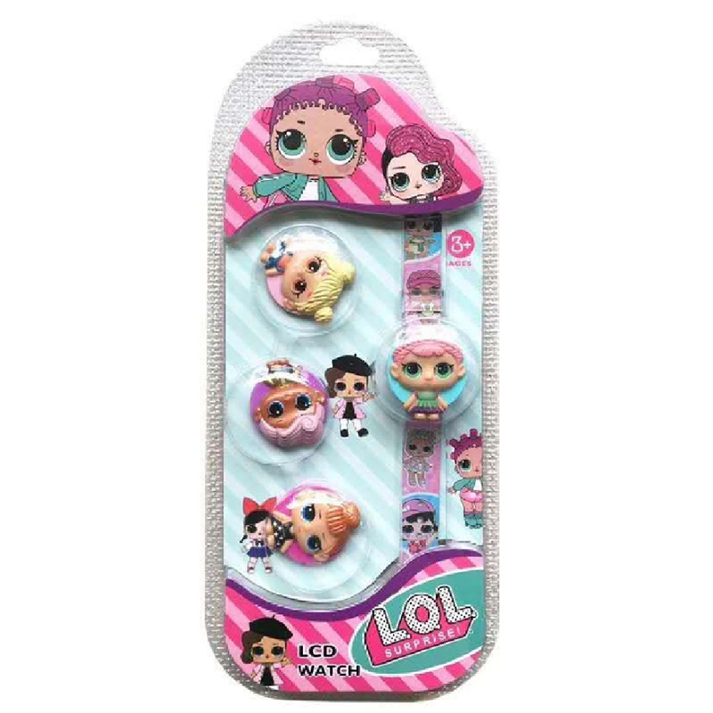LOL surprise dolls Original lols dolls cute Flip cover LCD Watch surprise dolls action figures new cartoon watch lol dolls toys