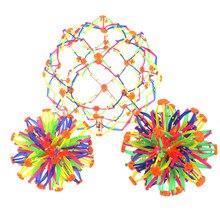 1pc 3 expansão bola brinquedo tamanhos bebê jogando bola alongamento encolhendo bola esfera brinquedo