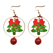 2019 New Time-limited Cartoon Earing Oorbellen Aretes Europe And The Christmas Ornaments Lovely Metal Ring Earrings Tree