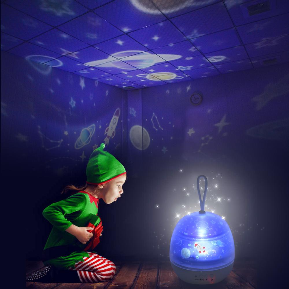 LED Night Light Starry Sky Magic Star Moon Planet Projector Lamp Cosmos Universe Luminaria Baby Nursery Light For Birthday Gif