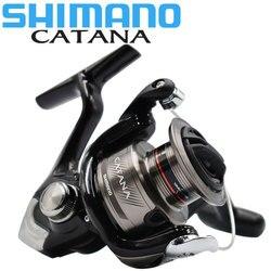 Carrete Original de SHIMANO, carrete giratorio de pesca CATANA 2 + 1BB 1000/2500/3000/4000 3,0 KG-8,5 KG, carrete de metal para agua de mar y agua dulce