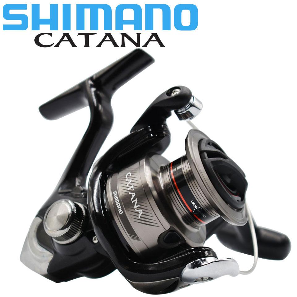 Оригинальная катушка SHIMANO CATANA рыболовная спиннинговая катушка 2 + 1BB 1000/2500/3000/4000 3,0 КГ-8,5 кг мощная морская вода/Пресноводная металлическая кат...