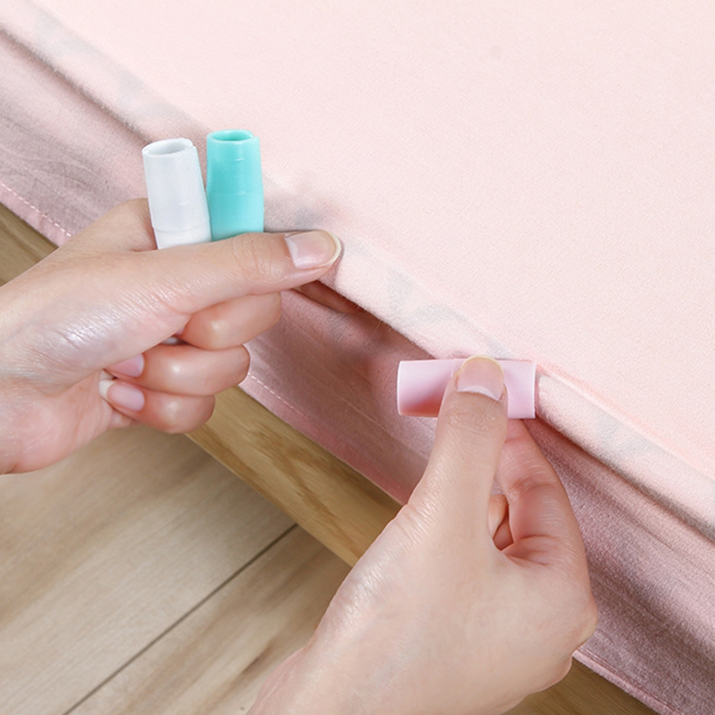 12Pcs Household Quilt Anti-slip Sheet Clips Sheets Mattress Holder Fasteners Clips Mattress Holder Bedroom Set