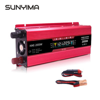 SUNYIMA 2000W Car Inverter DC12/24V To AC220V Solar Charging Voltage Power Converter voltage transformer USB Interfaces