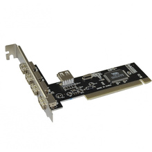 PCI card to USB 2.0 expansion Desktop board out of 5 cards Plug and play Easy install Free drive compatible