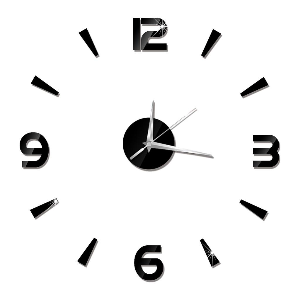 2019 New 3D Wall Clock Mirror Wall Stickers Fashion Living Room Quartz Watch DIY Home Decoration Clocks Sticker reloj de pared 23
