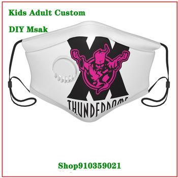 New Design Thunderdome X Purple Logo Dustproof Mouth Mask with an exhaust valve washable reusable face mask Kids adult men women