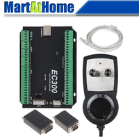 CNC Control System Mach3 Ethernet 3/4/5/6 Axis with MPG Controller DC Support Stepper/Servo Driver for DIY CNC