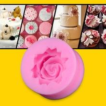3D Rose Flower DIY Fondant Cake Chocolate Sugarcraft Mold Cutter Silicone Tool
