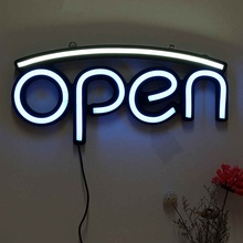 OPEN LED Neon Sign Light Hanging Bar Party Store Visual Artw
