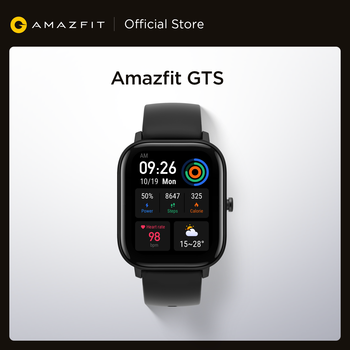 In stock Global Version Amazfit GTS Smart Watch 5ATM Waterproof Swimming Smartwatch 14 Days Battery Music Control for Android