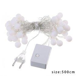 40 LED matowa biała kulka choinka holiday home wewnętrzna lampka string 220V ciepły biały|Girlandy świetlne|   -