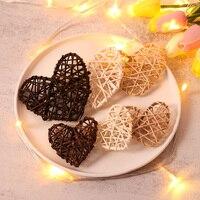 10 Uds rota bola corazón estrella de café de madera blanco colgantes para colgar = DIY adorno para árbol de Navidad suministros para fiesta de boda Casa Decor