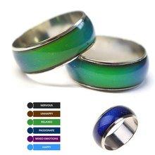 Anéis em mudança de cor humor emoção sentimento temperatura anéis para mulheres masculino casais anéis tom fino jóias fs99