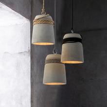 Industrial wind cement pendant lamp creative restaurant living room cafe bar dining light