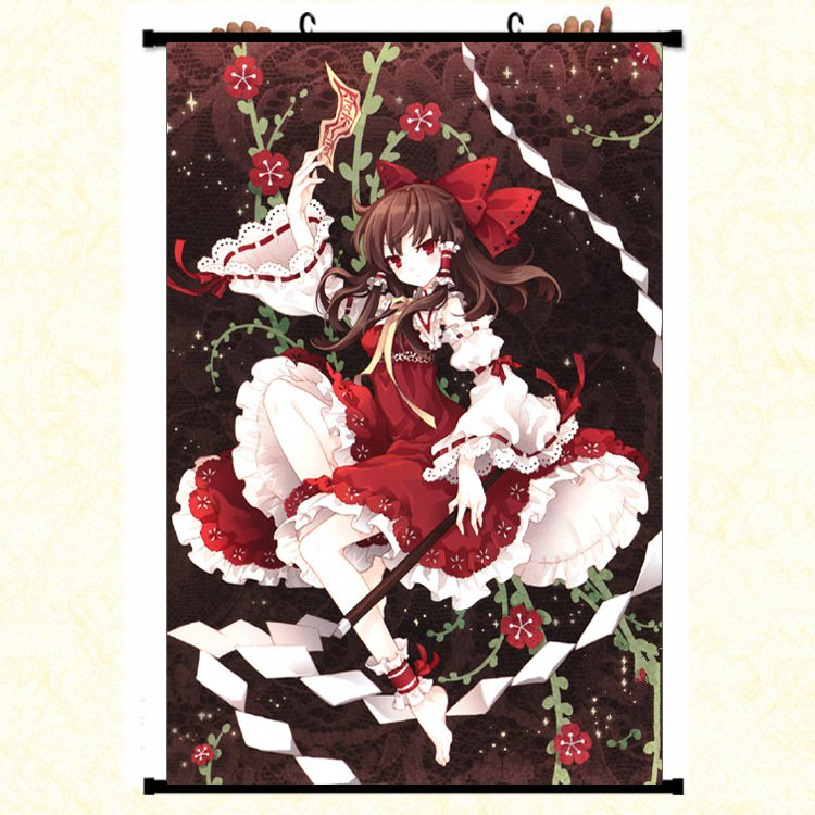 Game TouHou Project Wall Scroll Mural Poster Wall Hanging Poster Home Decor Art Collection image
