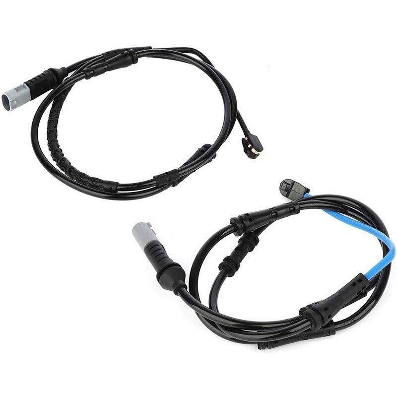 2Pcs Anteriore + Posteriore Freno A Disco Pad Usura Sensore 34356791958 per BMW F10 528I 535I 550I 640I 34356791962