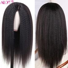 Peruca do laço pré arrancado com o cabelo do bebê brasileiro remy kinky reta perucas de cabelo humano glueless 13x1 parte do laço perucas 180% 10-28 Polegada