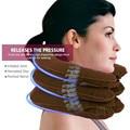 Надувная массажная подушка для поддержки шеи, подушка U-образной формы для устранения боли и расслабления шеи и плеч, мягкий корсет для раст...
