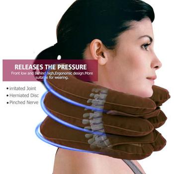 U poduszka pod kark nadmuchiwana poduszka powietrzna szyjka szyjna szyja ból barkowy relaks poduszka do masażu poduszka powietrzna trakcja miękka tanie i dobre opinie CN (pochodzenie) BODY 200tc Stałe Poliester bawełna THERAPY NECK Klasa a J804 ROUND 0-0 5 kg Massage Relaxation