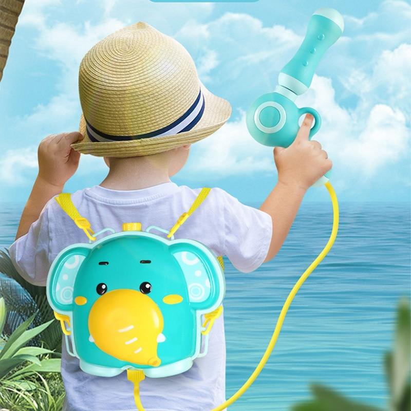 Summer Children Toy Water Gun Boy Girl Pressure Backpack Water Guns Baby Playing Water Sprayer Outdoor Beach Toys For Kids Toys