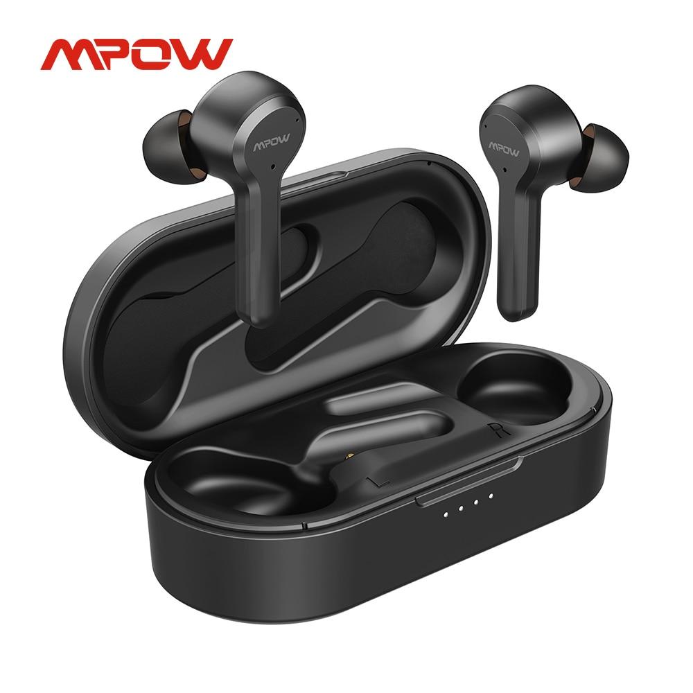 Mpow M9 40 часов воспроизведения iPX7 водонепроницаемые Bluetooth 5,0 TWS наушники Моно/двойной режим наушники-вкладыши с сенсорным управлением для iPhone ...