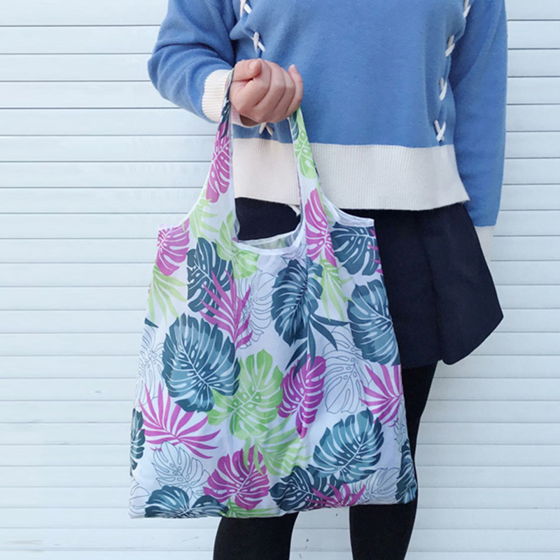 Boho Floral Printed Reusable Shopping Bag Large Folding Eco Environmental Shoulder Bag Portable Tote Handbag Bolsa Reutilizable